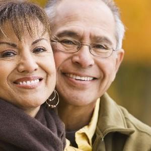 Hispanic Senior couple